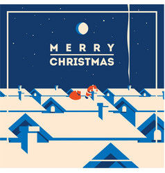 merry christmas minimalistic vector image