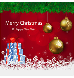 merry christmas snowflakes the background is vector image