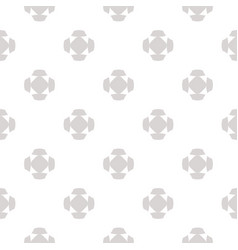 Minimalist seamless pattern with floral shapes vector