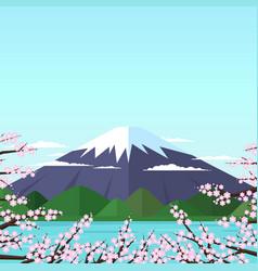 mount fuji vector image