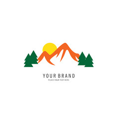 mountain symbol logo vector image