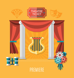 orange theatre composition vector image