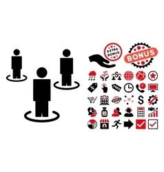 People Flat Icon with Bonus vector image vector image