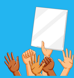 People hands on demonstration vector