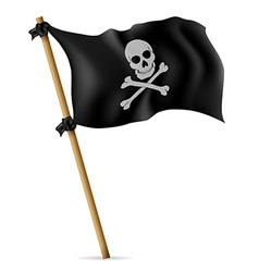 pirate flag 02 vector image