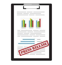 Press release icon vector