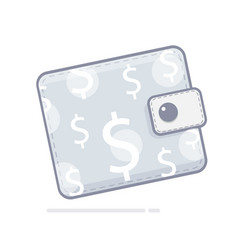 purse payment on the website finance symbol vector image