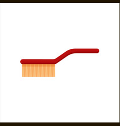 red flat cleaning brush for cleaning and washing vector image