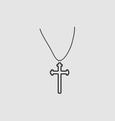 religion cross icon flat vector image