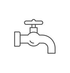 Retro tap line outline icon vector