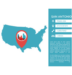 san antonio map infographic vector image