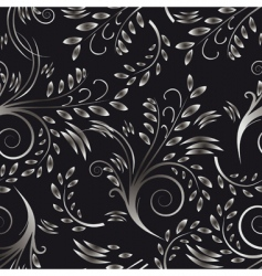seamless background black and white vector image