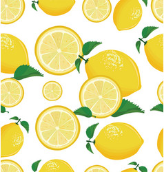 seamless background with lemon vector image