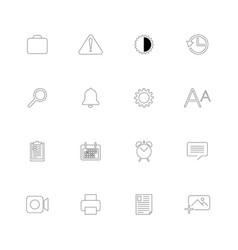 set 16 universal icons vector image