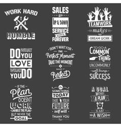 Set of vintage business motivation typographic vector