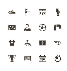 soccer - flat icons vector image