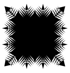 Square element with zig-zag criss-cross vector
