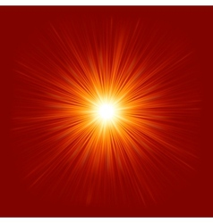 Star burst red and yellow fire EPS 8 vector image