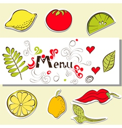 template for menu vector image vector image