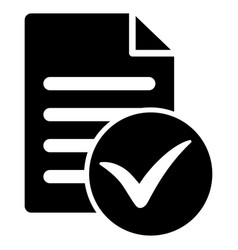 Test page flat icon vector