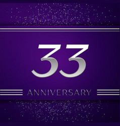 thirty three years anniversary celebration design vector image