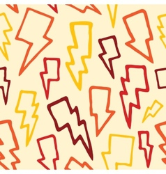 Thunder bolts seamless pattern vector