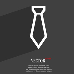 Tie icon symbol Flat modern web design with long vector image
