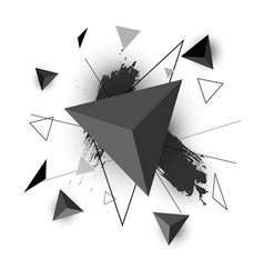triangle abstract on white background vector image