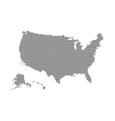 usa map made dots and points dotty map vector image