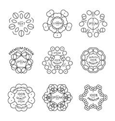 Vintage label minimal line art design vector image