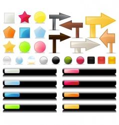 web UI vector image