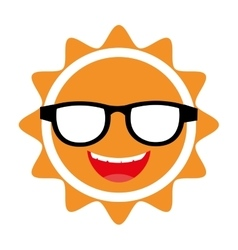 Yellow avatar face sun graphic vector