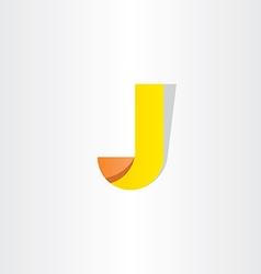 yellow letter j symbol design logo j vector image