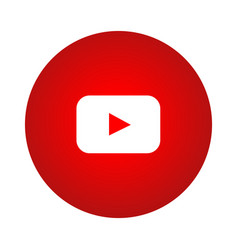 youtube red gradient circle logo vector image