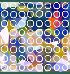 abstract seamless pattern circles drawn on vector image