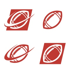 American Football Logo Icons vector image