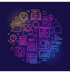Audit circular colorful vector image