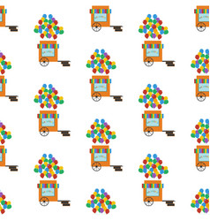 balloons shop seamless pattern vector image