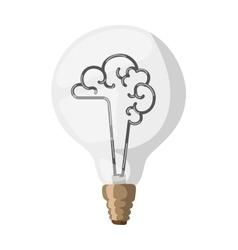 Brain lamp vector image