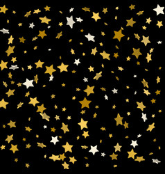 gold stars on a black background vector image