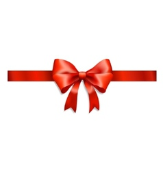 red ribbon and bow isolated on white vector image vector image