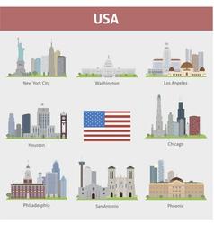 USA set vector image vector image