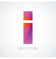 colorful logo letter i vector image vector image