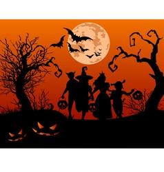 Halloween children vector image