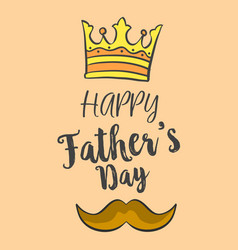 happy father day over brown background vector image vector image