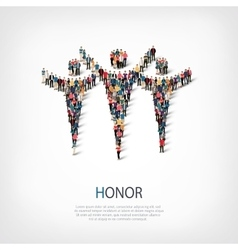 Honor people sign 3d vector