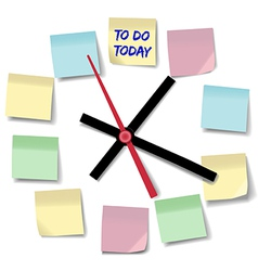 Notes appointment busy to do clock vector image