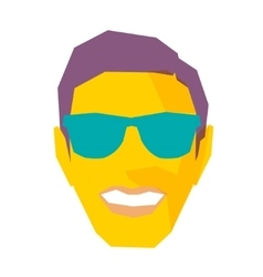 Smiling Male Face With Sunglasses vector image vector image