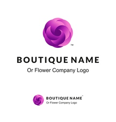 Beautiful Logo with Lilac Flower for Boutique or vector image vector image