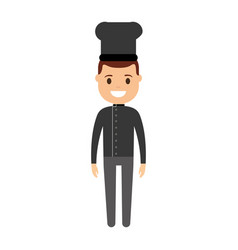 cartoon chef man icon vector image